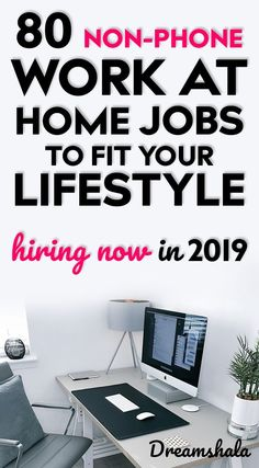 80 non-phone work at home jobs to fit your lifestyle. Hiring now in 80 non-phone work at home Earn Money From Home, Earn Money Online, Online Jobs, Way To Make Money, Online Careers, Hiring Now, Jobs Hiring, Entrepreneur, Work From Home Jobs