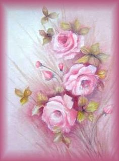 Floral em óleo sobre tela.