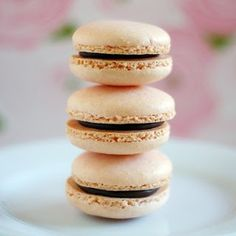 Easy macaroons -   Simple Macarons  {makes about 40-ish shells for 20 cookies}    3/4 cup ground almond flour/meal  2/3 cup powdered sugar  2 large egg whites  3 & 1/2 TBSP granulated sugar  food color (optional)  buttercream, ganache, or Nutella for filling
