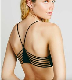 b278e0a50a NWT Intimately Free People Sexy Seamless Soft Black Strappy Side Bralette M  / L. Free People SaleRalph LaurenThong Bikini