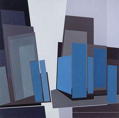 Gualtiero Nativi (Italian, 1921-1999), Spazio ambiguo n° 1, 1976. Tempera on canvas, 100 x 100 cm.