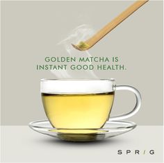 Out with the teabags, in with Sprig's Golden Matcha, a green tea powder that makes use of the whole leaf so that you don't miss out on the antioxidants that are normally lost when you throw out the leaves. Just top it with some warm water and enjoy a cup of health. https://goo.gl/V0abxk ‪#‎GoldenMatcha‬ ‪#‎Matcha‬ ‪#‎GreenTea‬ ‪#‎SprigGourmet‬ ‪#‎Healthy‬ ‪#‎Matchalovers‬ ‪#‎GreenTeaLovers‬ ‪#‎OnlineOrder‬