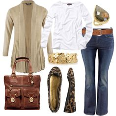 Fall Neutrals... wanted to add a little animal print to my wardrobe and this outfit is so simple and easy.