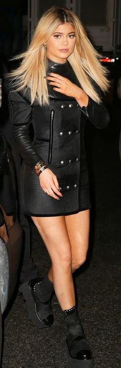 Kylie Jenner: Dress and shoes = Alexander Wang Bracelet – Cartier