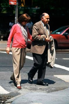 Jackie Onassis and Maurice Templesman, May 1994, shortly before she passed away.
