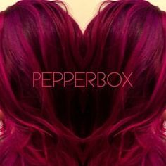 (56) Color using Pravana Vivids Wild Orchid, Magenta, and Violet. Base color Redken 5RV. Color done by Sara Reed @pepperboxdesign ..