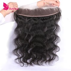 "Brazilian Virgin Hair Lace Frontal Closure 13x2"" Bleached Knots 8-20"" Body Wave Full Lace Frontal Brazilian Lace Frontal Closure"