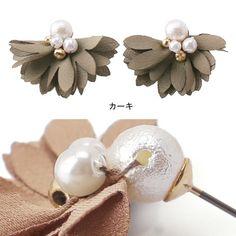 Fabric Earrings, Fancy Earrings, Fabric Jewelry, Beaded Earrings, Beaded Jewelry, Denim Flowers, Homemade Jewelry, Beaded Bags, Simple Jewelry
