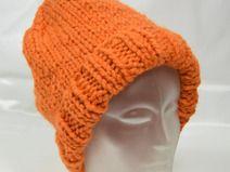 Kuschelige Mütze orange