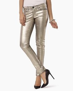 Foiled Metallic Jeans