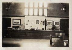 High Park Library - circulation desk - vintage photo circa 1920.