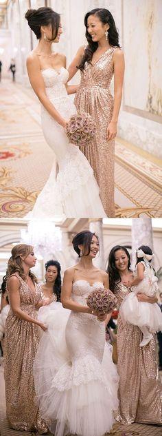 gold bridesmaid dresses,sequins bridesmaid dresses,long bridesmaid dresses,wedding bridesmaid dresses @simpledress2480