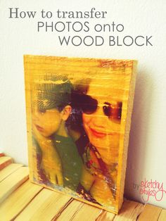 Step-by-step instructions for transferring a photo onto wood.  Project by sketchystyles.com  #DIY  #Photo Transfer