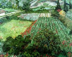 Art of the Day: Van Gogh, Field with Poppies, early June 1889. Oil on canvas, 71 x 91 cm. Kunsthalle Bremen, Germany.