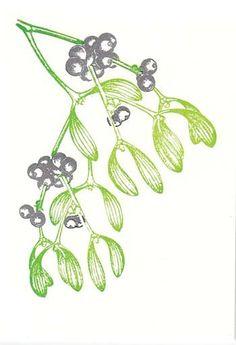 Archivist Gallery - Mistletoe card