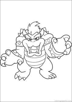 Super Mario Bros Coloring Pages 16