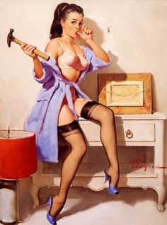 The Wrong Nail (Wrong Nail) - Gil Elvgren 1967