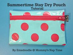 summertime stay dry pouch -  make in various sizes