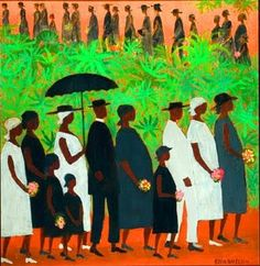 The Funeral Procession by Ellis Wilson