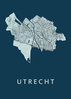 Utrecht, Vintage Posters, Diagram, Map, City, Movie Posters, Kunst, Poster Vintage, Location Map