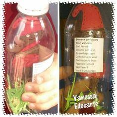 6 ideias para o Dia do Folclore. Bottle, School, Classroom, Bottles, Sculptures, Flask, Jars