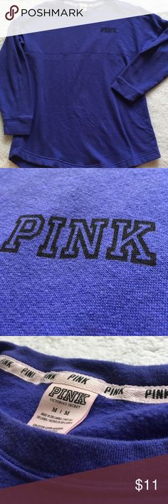 """Cute! Victoria's Secret PINK Purple Pullover This is a listing for a VS PINK Pullover. It is purple with """"PINK"""" written in little letters on the front and """"LOVE PINK - PINK PINK PINK"""" on the back side. It is in good condition and very cozy! Looks great with leggings or skinny jeans! Size Medium. PINK Victoria's Secret Tops Sweatshirts & Hoodies"""