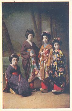 Japanese Geishas, 1920s