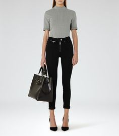 REISS - FRANCIS HIGH-RISE ZIP-FRONT JEANS