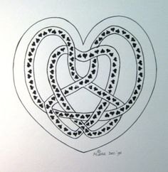 82 Heart with knot, by Miekrea NL - Dec. 1994 (used: crayons)