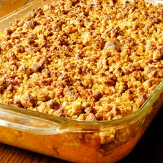 Sweet Potato Casserole Recipe from Grandmother's Kitchen