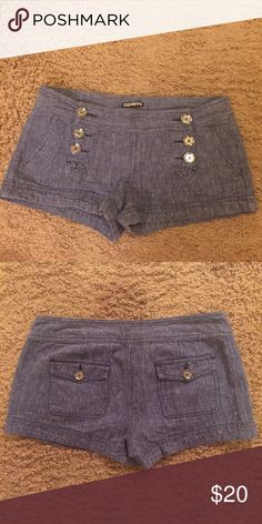 Express shorts In great condition! Medium wash Jean color. Express Shorts