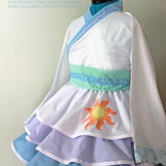Princess Celestia My Little Pony Cosplay Kimono Dress Wa Lolita Skirt Accessory | Darling Army