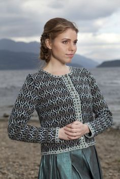 Loch Lomond translated into gorgeous stranded knitting by Jade Stamore