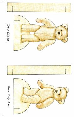 FREE printable Bears paper dolls 39 - TONS of outfits for them!!!