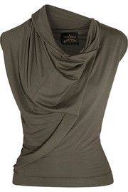 Cliff draped stretch-jersey top | THE OUTNET