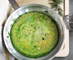 Persische Omelette mit Spinat und Dill
