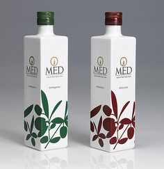 Omed Extra Virgin Olive Oil on Packaging of the World - Creative Package Design Gallery Olive Oil Packaging, Simple Packaging, Beverage Packaging, Brand Packaging, Bottle Packaging, Olives, Olive Oil Bottles, Label Design, Package Design