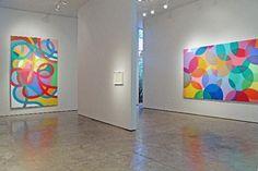 Installation view of Graciela Hasper: Gramática del Color, Museo del Arte Moderno de Buenos Aires, 2013-2014. Peace Art, Philadelphia Museum Of Art, Light Installation, Museum Of Fine Arts, Rug Hooking, Contemporary Artists, Art History, Art Gallery, Abstract