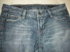 Citizens of Humanity Kate Blue Jeans Full Leg Low Waist Womens Sz 27 #CitizensofHumanity #WideLeg