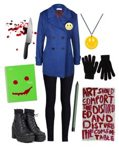 """Bloody Painter (Helen Otis) Gender Bend Outfit"" by autumn-szabo ❤ liked on Polyvore"