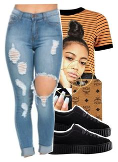 """""""6/23/16"""" by lookatimani ❤ liked on Polyvore featuring MCM, Puma and Melissa Odabash"""