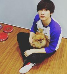 Eunhyuk + Choco Kyaa~ Oppa's so cute~ TTwTT