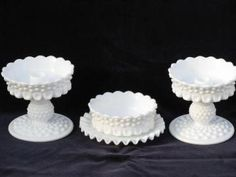 white milk glass candle holders | ... candle holders set, hobnail milk glass candle sticks, bobeches