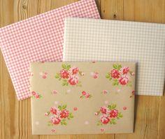 Enveloppen, papieren enveloppen, handgemaakte enveloppen, enveloppen met bloemen, snailmail enveloppen, snailmail, 3 stuks, 11,5 x 16 cm, C6 by LabelsAndMore on Etsy