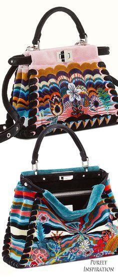 Fendi Peekaboo Handbags | Purely Inspiration Fashion Handbags, Purses And Handbags, Ladies Handbags, Cute Bags, Leather Design, Designer Purses, Designer Handbags, Tote Purse, Vintage Accessories