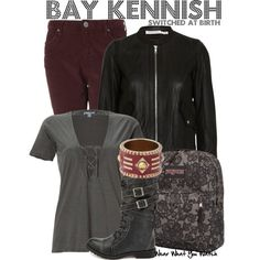 Switched at Birth by wearwhatyouwatch on Polyvore featuring James Perse, Étoile Isabel Marant, Topshop, Charlotte Russe, JanSport, Belle Noel by Kim Kardashian, lace, skinny jeans, backpacks and combat boots