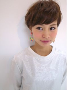 コクーン Cocoon 束感ナチュラル大人可愛いショートヘア☆ Short Hairstyles For Women, Up Hairstyles, Pretty Hairstyles, Short Hair Cuts, Short Hair Styles, Hear Style, Wavy Pixie, Salon Style, Pixie Haircut