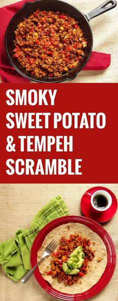 Smokey Sweet Potato Tempeh Scramble