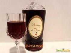 Liquore allo cherry fatto con vino rosso  #ricette #food #recipes