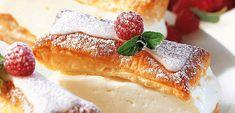 Vanillecremeschnitten - QimiQ Food Porn, Easy Baking Recipes, Vanilla Cream, Organic Matter, French Toast, Cheesecake, Yummy Food, Sweets, Cooking